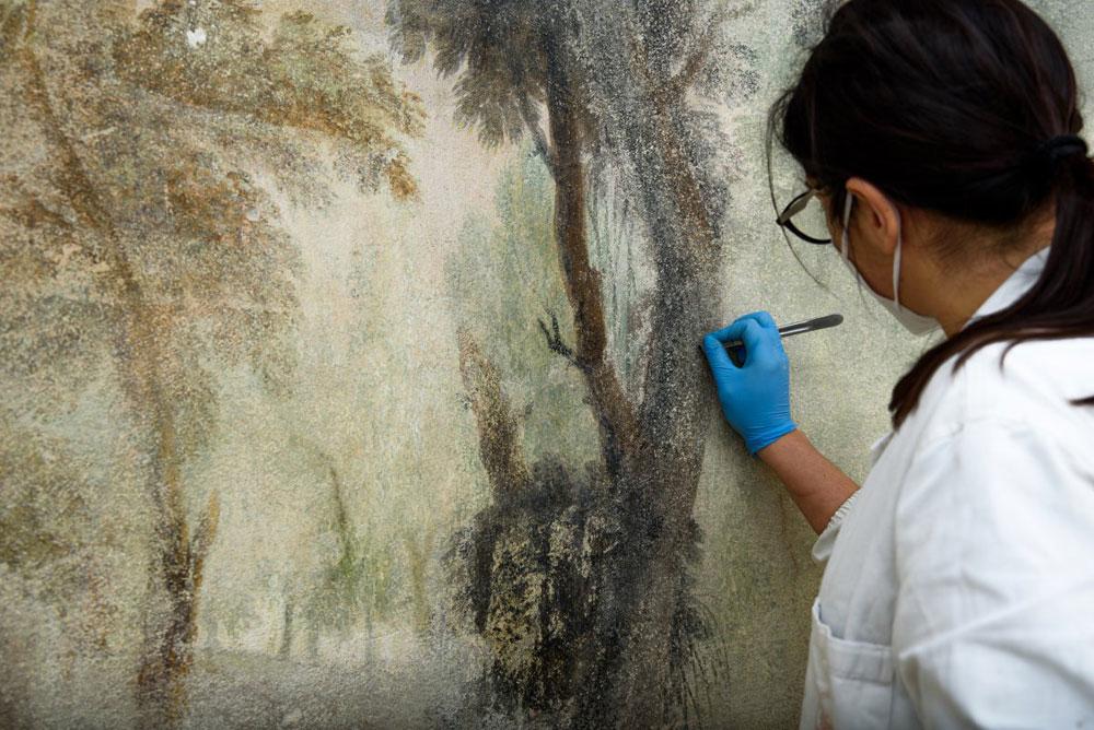 Firenze, scoperte nuove pitture murali ottocentesche a Casa Martelli