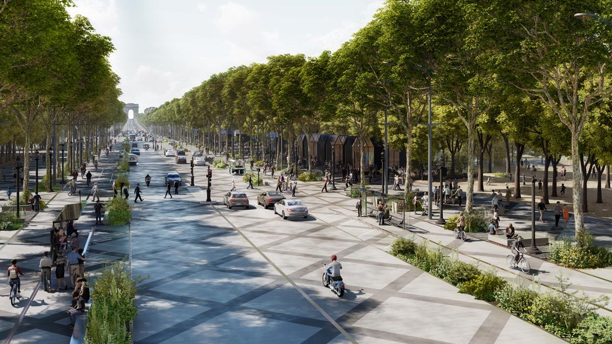 Parigi, gli Champs-Élysées diventeranno un grande giardino per le Olimpiadi 2024