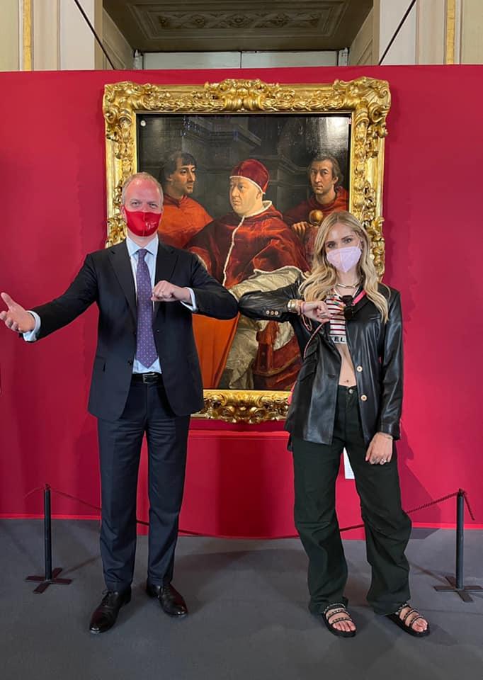 Chiara Ferragni torna di nuovo a trovare Schmidt e stavolta visita Palazzo Pitti