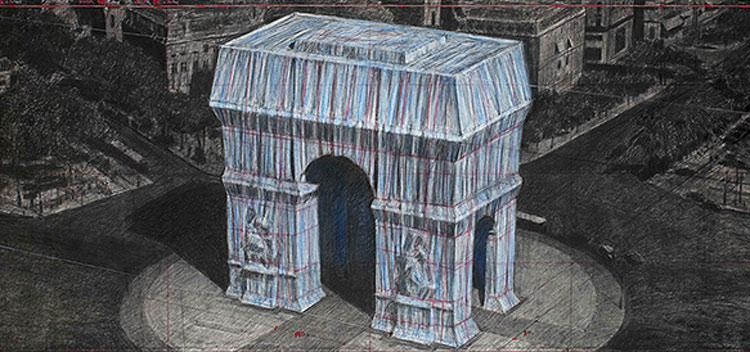 Sta per arrivare l'Arco di Trionfo impacchettato, l'ultimo progetto di Christo. Ecco quando