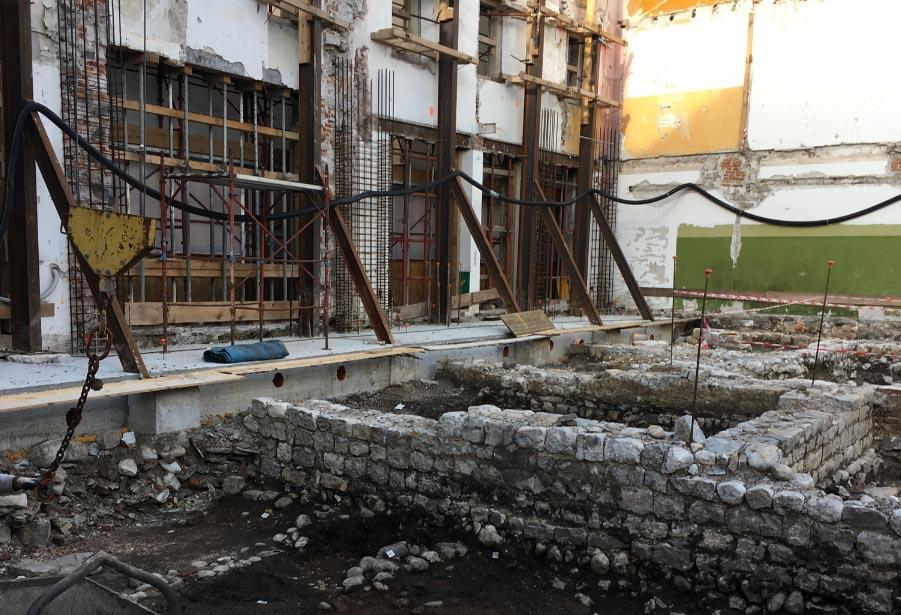 Cividale del Friuli, dal cantiere di un edificio riemergono resti dell'antico abitato