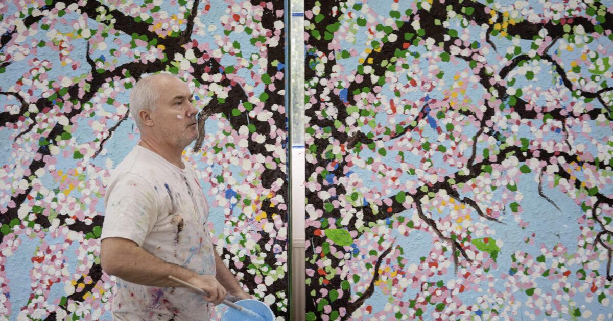 A Parigi sono in mostra le nuove opere di Damien Hirst: Ciliegi in fiore
