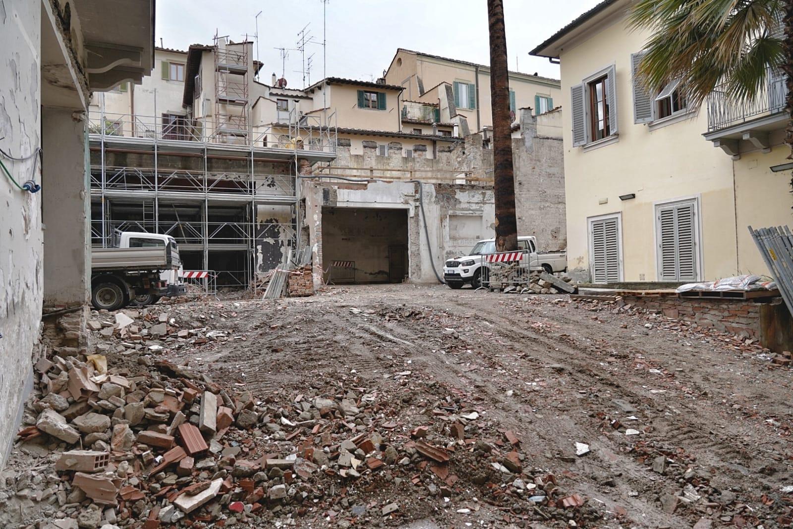 Firenze, completata demolizione Teatro dell'Oriuolo. L'ex palcoscenico sarà un teatro digitale