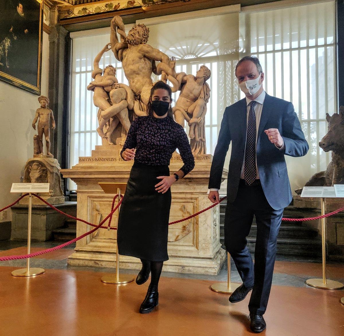 Gli Uffizi riaprono e Schmidt accoglie anche Tessel Middag, star del calcio femminile