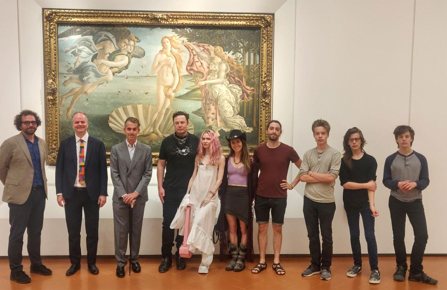Firenze, il magnate tech Elon Musk visita a sorpresa Palazzo Vecchio e Uffizi