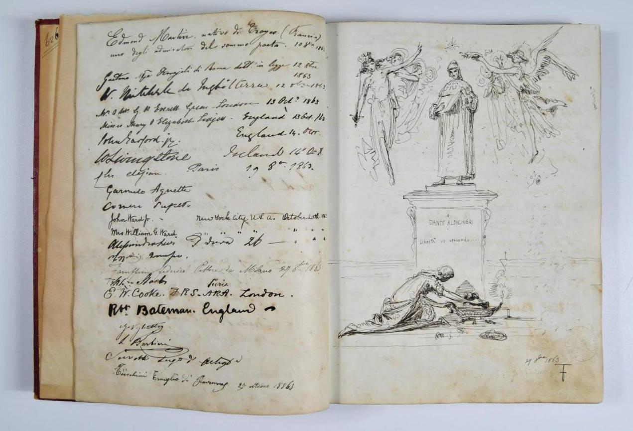 Ravenna, scoperta un'opera inedita di Federico Faruffini: un commosso omaggio a Dante