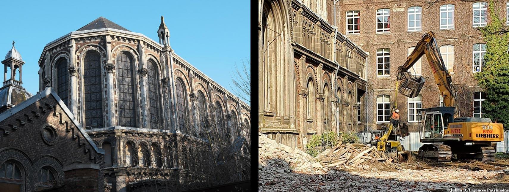 Francia, a Lille stanno abbattendo una chiesa del XIX secolo. L'ira del mondo della cultura