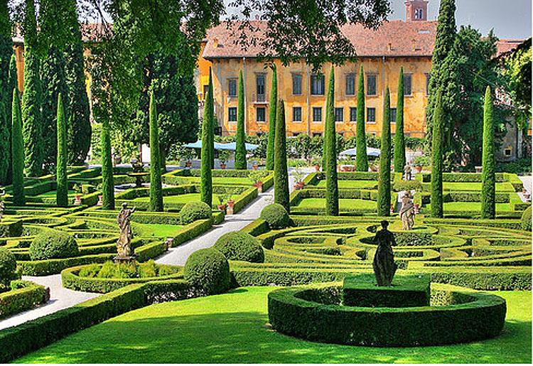 Il Giardino Giusti di Verona è l'unico sito italiano più a rischio in Europa