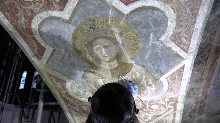 Padova, riemergono le pitture originali di Giotto nella Basilica di Sant'Antonio