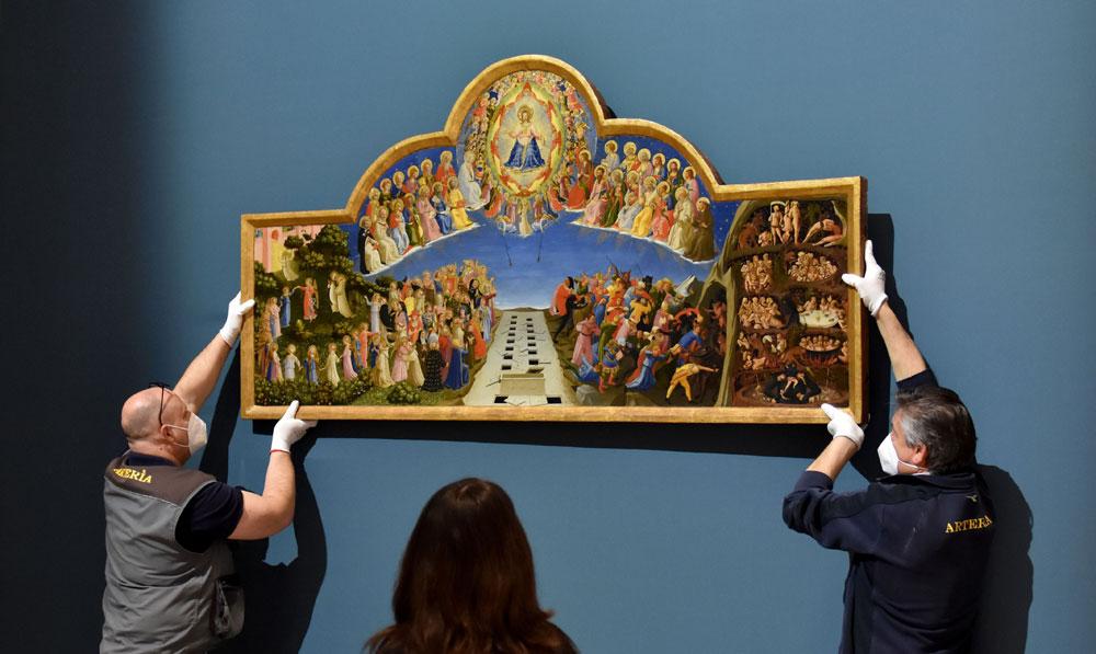 Da Firenze a Forlì: il Giudizio finale di Beato Angelico esposto alla grande mostra su Dante