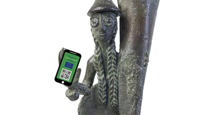 I musei inventano modi creativi per comunicare l'obbligo di green pass dal 6 agosto