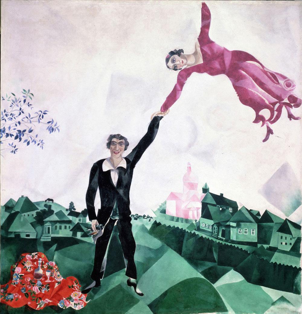 La storia d'amore tra Chagall e Bella raccontata in uno spettacolo online
