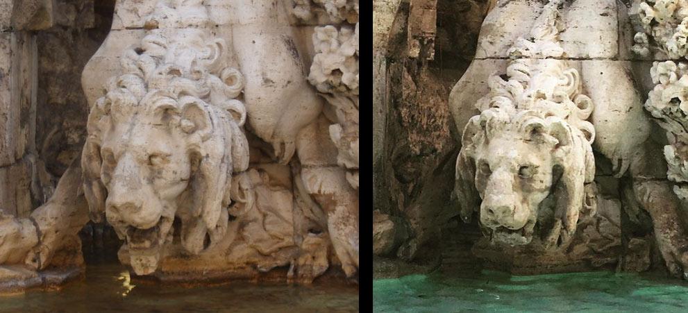 Roma, sfregiata la Fontana dei Fiumi del Bernini: gravissimo danno al leone del Nilo