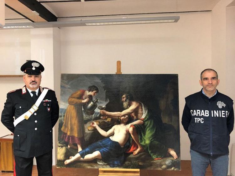 Recuperato dipinto di Alessandro Turchi rubato a ebrei nell'occupazione nazista