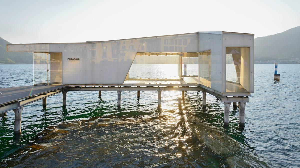 """Sta per aprire un """"museo galleggiante"""" sul lago d'Iseo, con un intervento di Daniel Buren"""