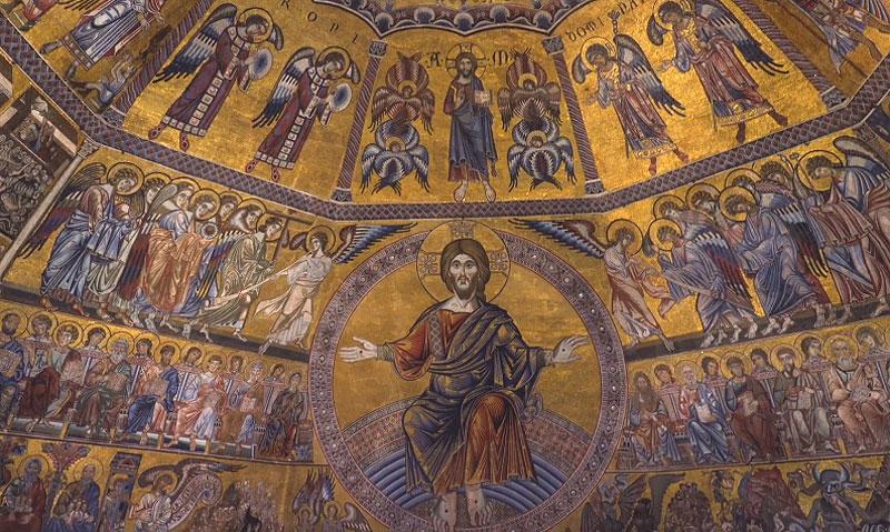 Risplendono dopo il restauro i mosaici trecenteschi del Battistero di Firenze