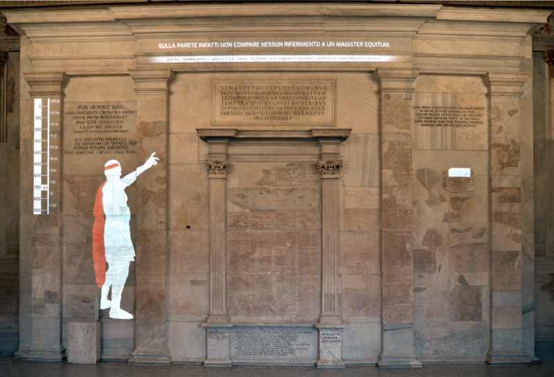 Ai Musei Capitolini una mostra multimediale racconta la storia di Roma con i Fasti Capitolini