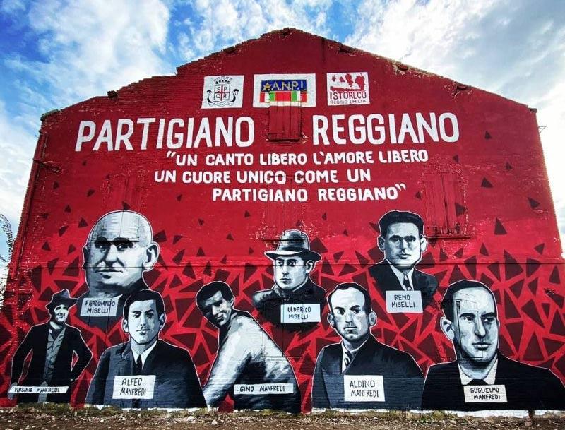 """Autostrade contro il murale Partigiano Reggiano: """"distrae gli automobilisti"""""""