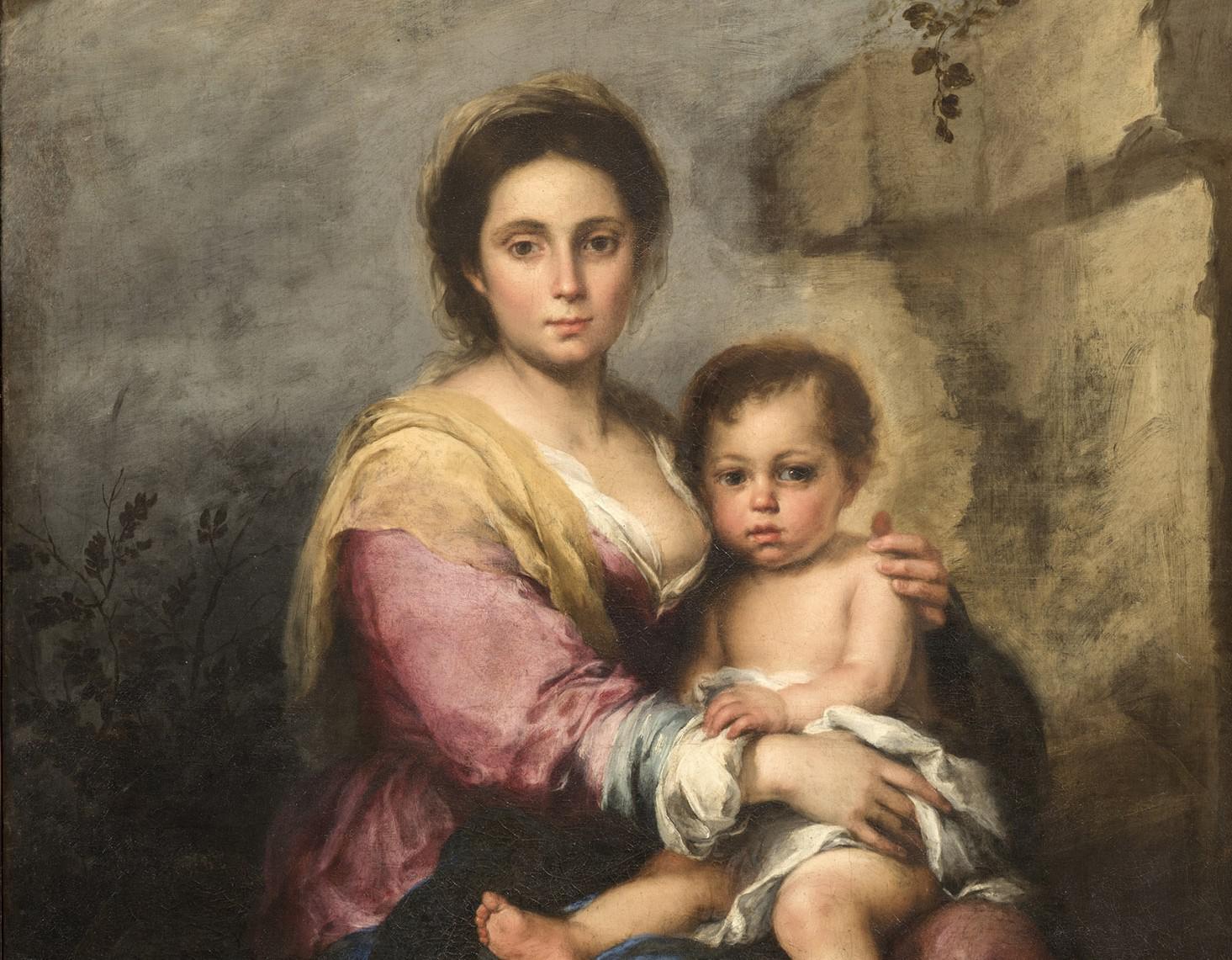 Roma, il restauro della Madonna del latte di Murillo rivela un altro dipinto