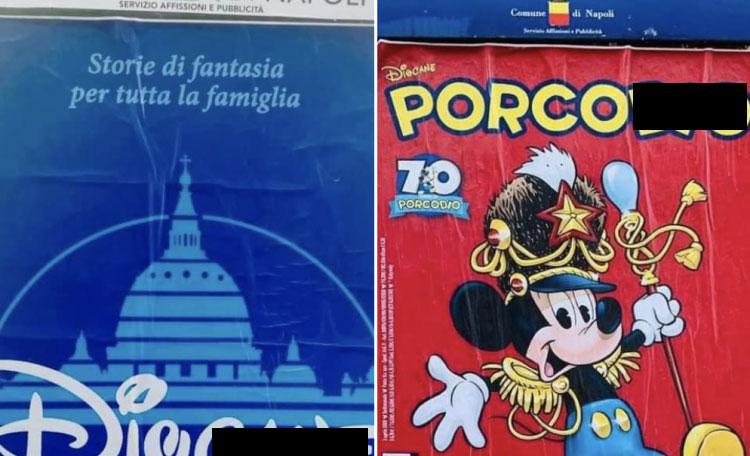 Napoli, compaiono manifesti con bestemmie per promuovere mostra. È polemica