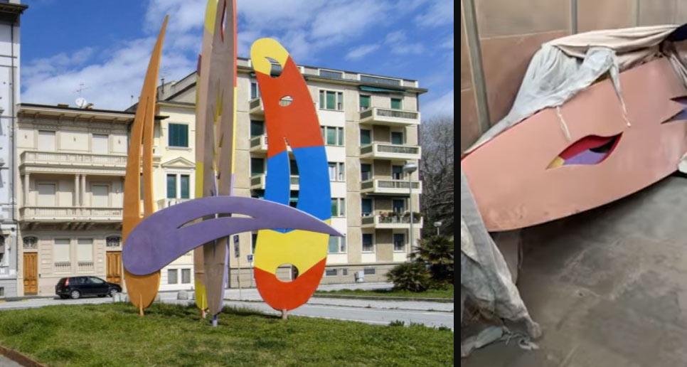 Viareggio, gallerista denuncia lo stato delle Oceaniche di Turcato, il sindaco la querela
