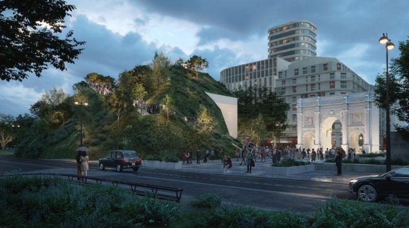 Londra, sorgerà una collina temporanea e panoramica vicino Hyde Park