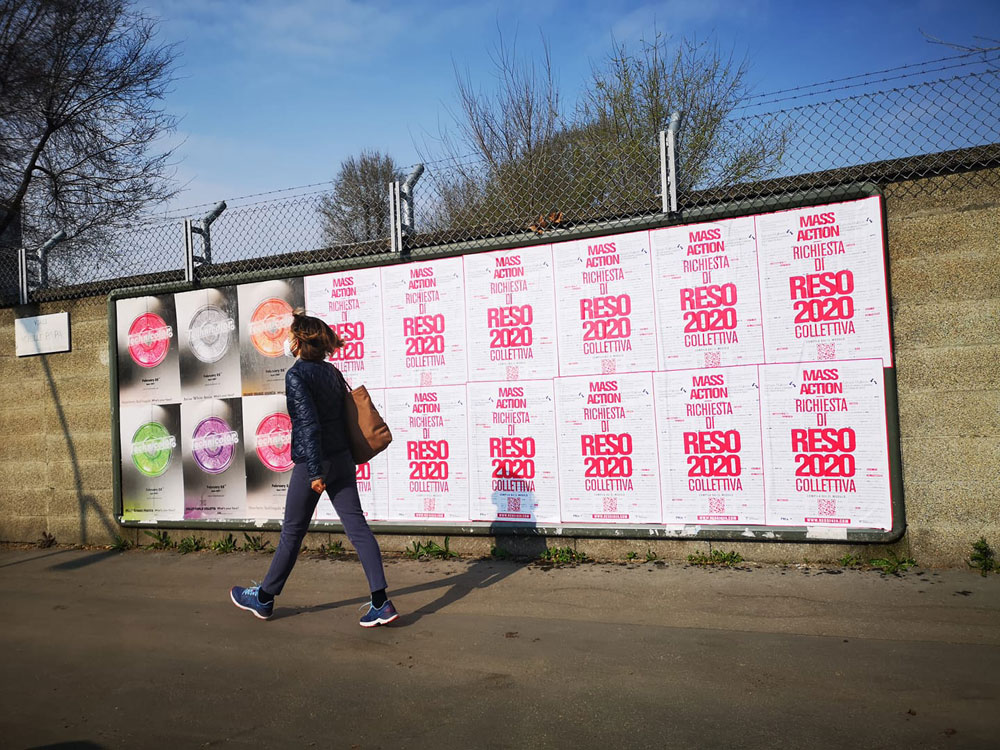 Ridiamo indietro il 2020 con il diritto di recesso: la campagna di un collettivo artistico milanese