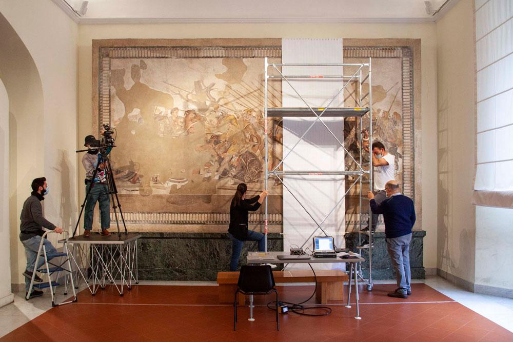MANN, al via il restauro del grande mosaico della Battaglia di Isso