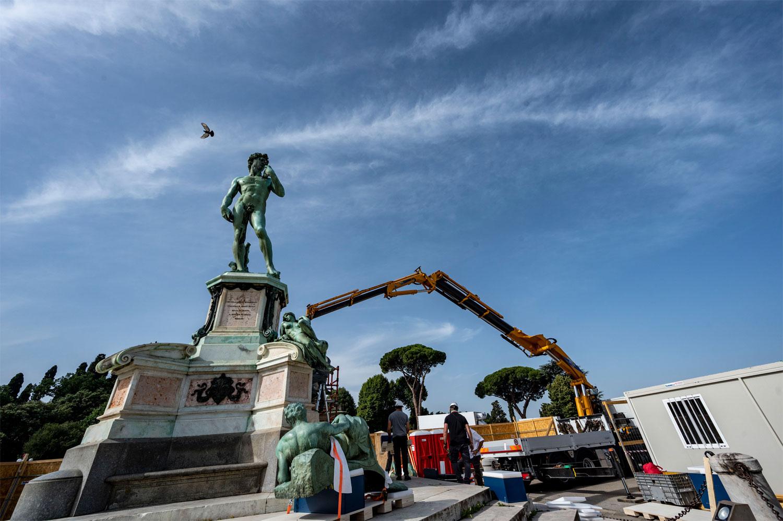Firenze, parte il restauro-show del David di piazzale Michelangelo