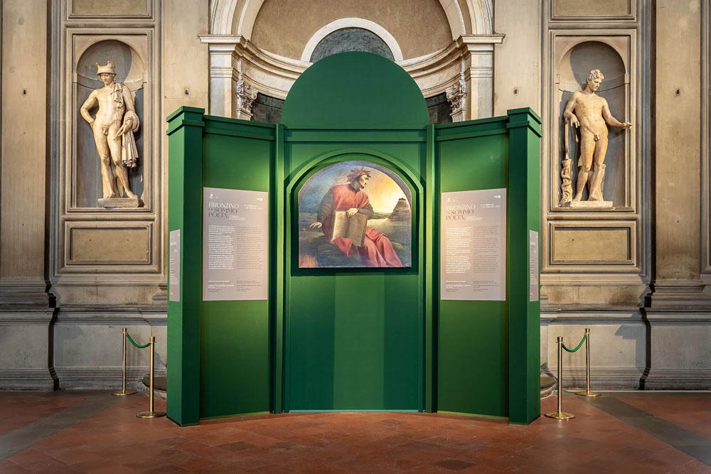 Il Ritratto allegorico di Dante del Bronzino in mostra nel Salone dei Cinquecento