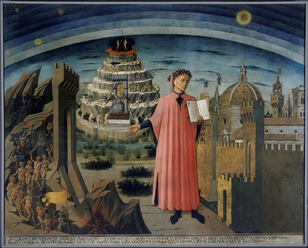 Realizzata un'installazione per vedere da vicino il Ritratto di Dante della Cattedrale di Firenze