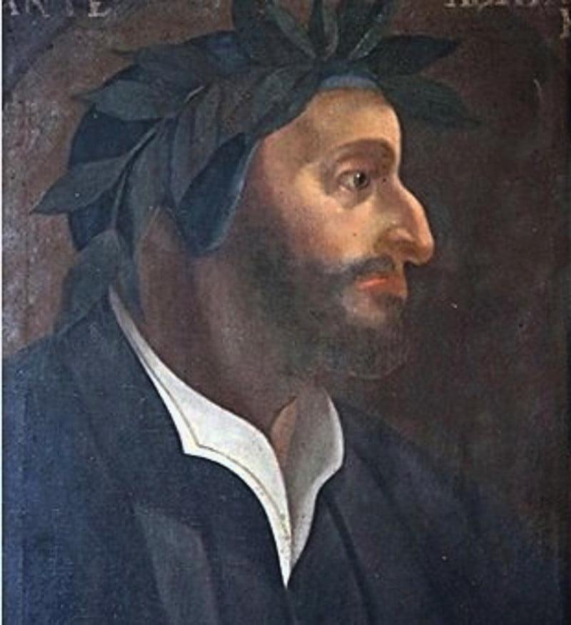 Orvieto celebra il Dantedì con questo singolare ritratto di Dante barbuto