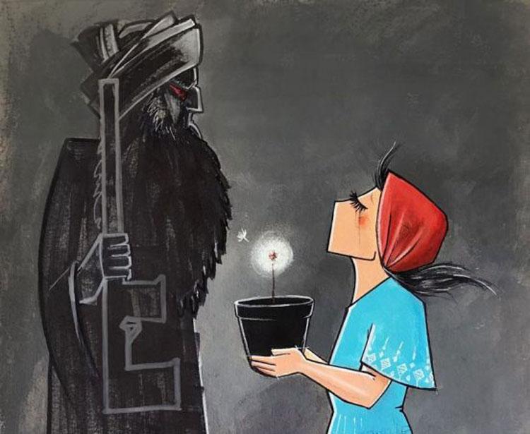 Shamsia Hassani, la prima street artist dell'Afghanistan: sui social le sue opere sono virali