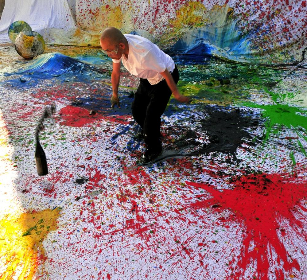 Apre a Foligno una grande retrospettiva sull'artista giapponese Shozo Shimamoto