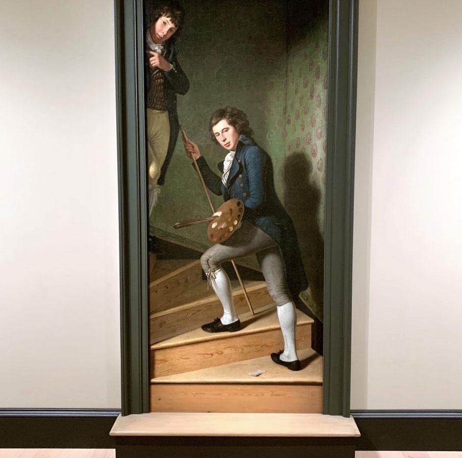 Un gradino invita a entrare nel dipinto: il trompe-l'oeil ingannò anche George Washington