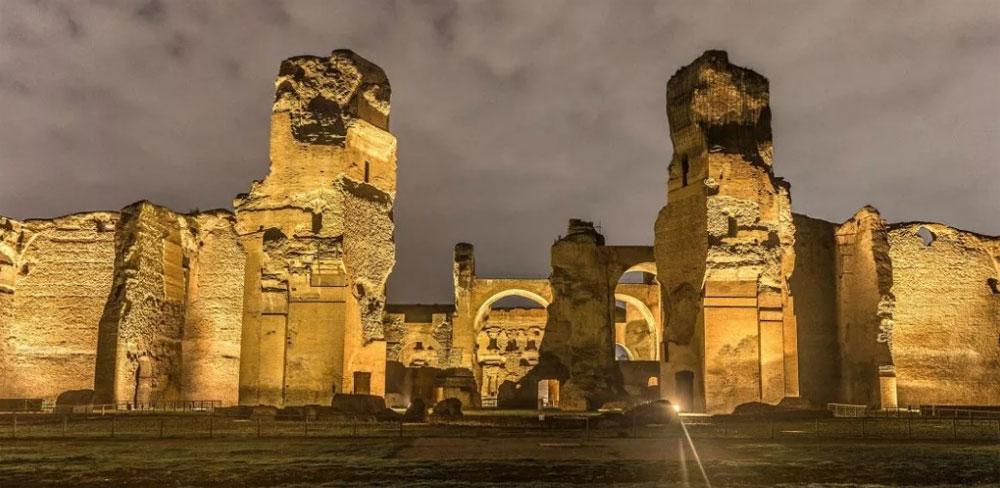 Visite notturne alle Terme di Caracalla: accessibili anche i sotterranei e il Mitreo