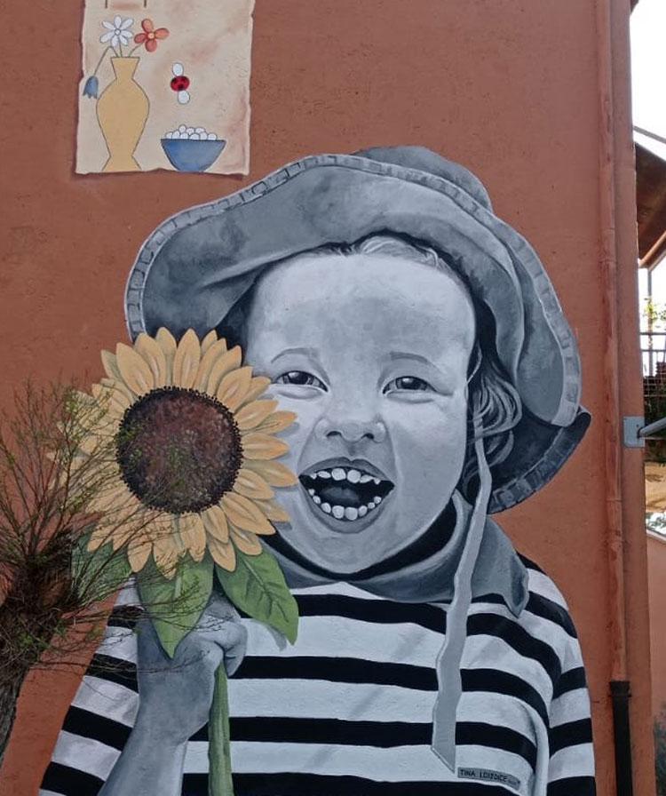 I diritti diventano opere di street art, da un'infanzia felice allo stop a povertà e fame