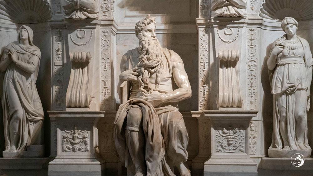 MiC, i teatrali effetti della luce sul Mosè di Michelangelo in un video