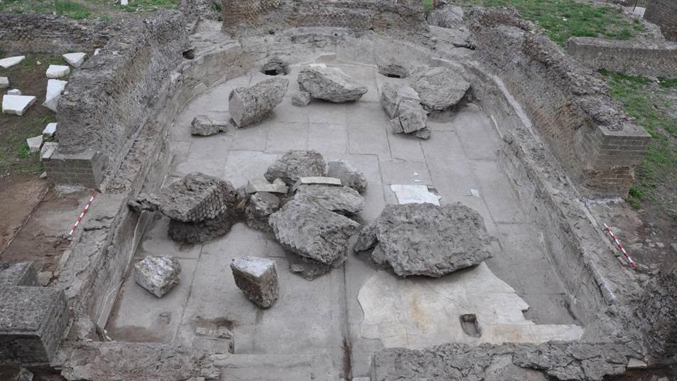 """Tivoli, a Villa Adriana archeologi spagnoli scoprono un triclinio... acquatico. """"Unico al mondo"""""""