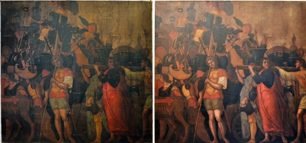 Palazzo Ducale di Mantova acquista e restaura copia dei Trionfi di Cesare: sarà esposta in anteprima