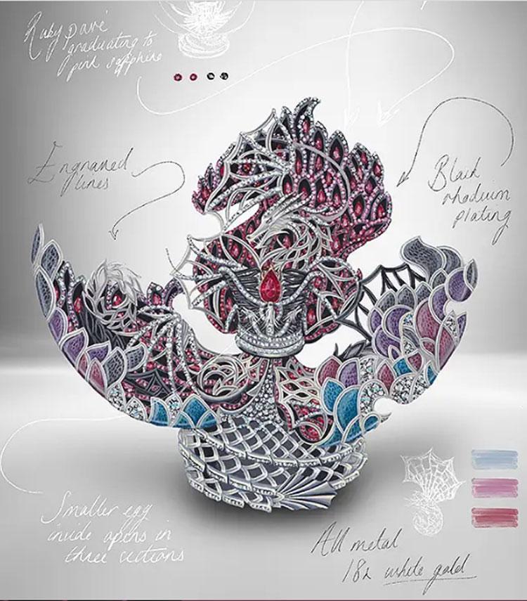 Un prezioso uovo Fabergé celebra i dieci anni di Game of Thrones