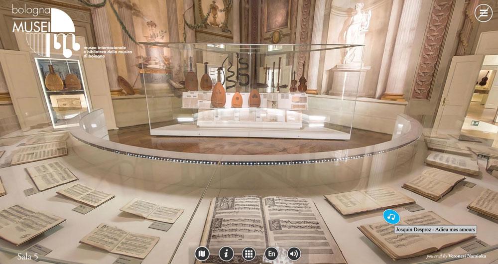 Il Museo della Musica di Bologna si apre al web: un nuovo percorso virtuale immersivo a 360°