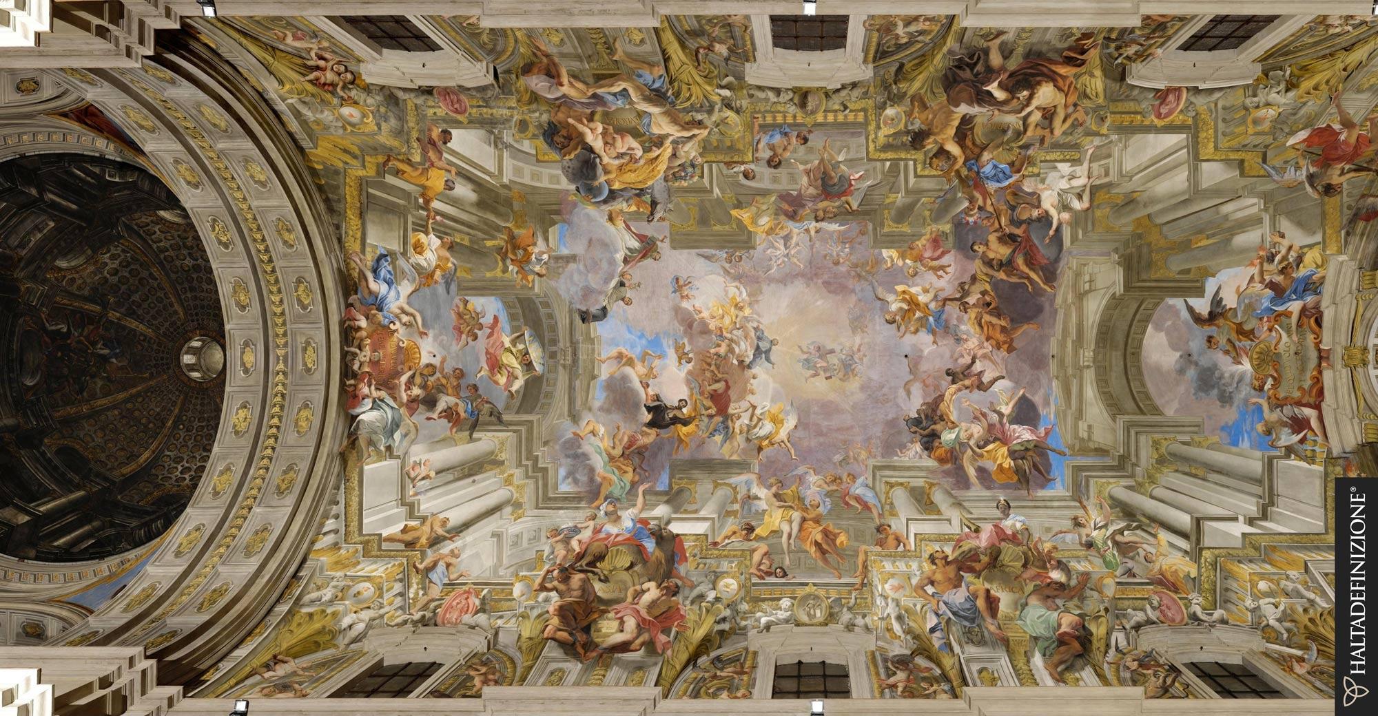 Digitalizzata la Gloria di sant'Ignazio, lo spettacolare capolavoro di Andrea Pozzo