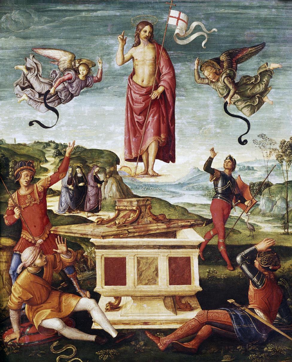 Raffaello (attribuito), Resurrezione (1501-1502; olio su tavola, 52 x 44 cm; San Paolo del Brasile, Museu de Arte de São Paulo)